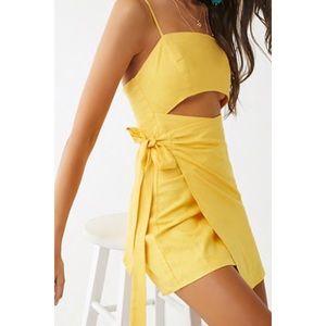 Cutout Wrap Dress